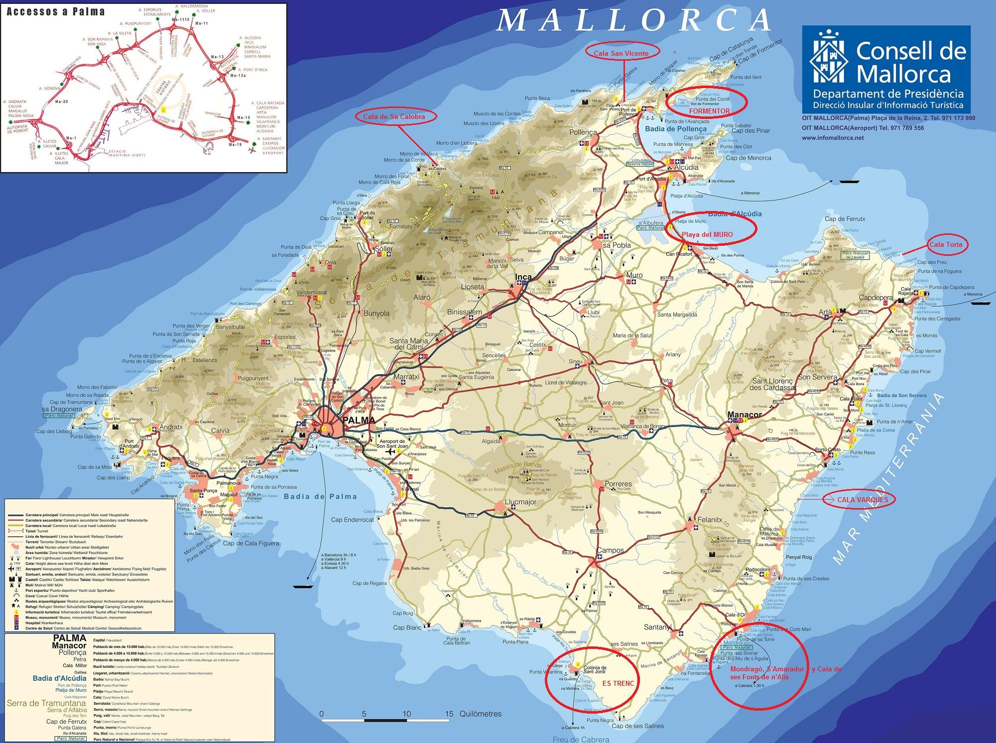 Mapa de manacor - Codigo postal mallorca palma ...