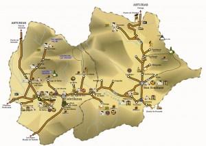 Mapa de Babia Asturias