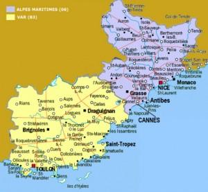 Mapa Costa Azul