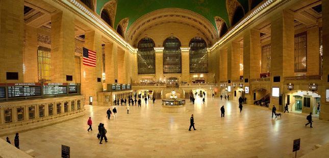 La estación de tren de Nueva York