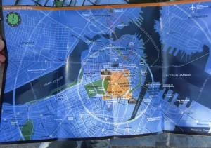 Mapa de Boston con los recorridos