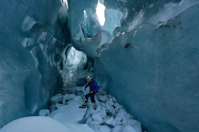 Ice pavilion en Ice Grotto de Mittelallalin