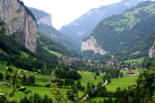 Staubbach Falls, Bernese Oberland (Suiza)