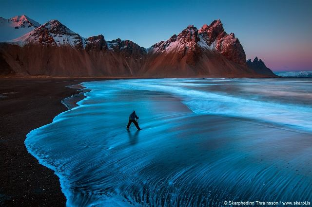 Playa Enigmática de la Impresionante Islandia