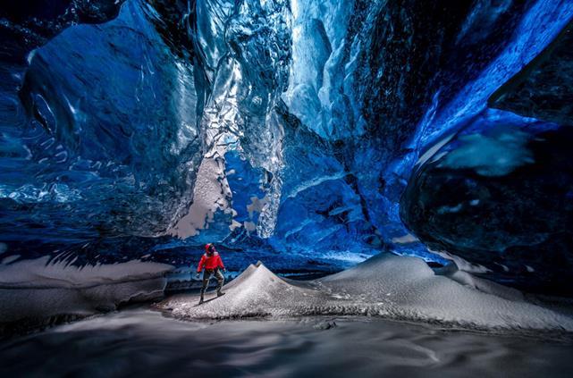 Skaftafell - LA cueva del hielo en Islandia