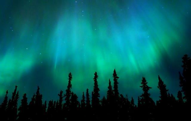 aurora boreal en Suecia
