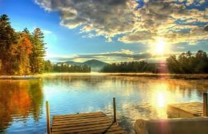Placid lake en Nueva York