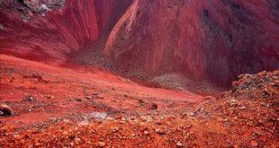 Cráter del volcán Morado Norte. Payunia